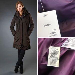 NWT Tahari Elissa Down Coat Pillow Collar Jacket